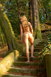 Ness showcases her smooth, slender body, sensual allure and vivacious spirit in the park.