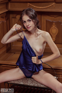 That wet pussy is shown off in a special way as she strips down and has some fun.